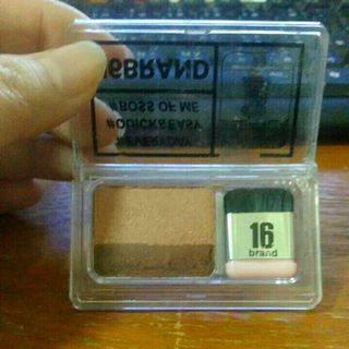 雜誌16brand懶人漸層雙色眼影盤02色號