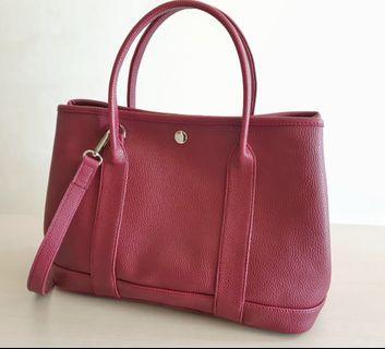 Red maroon tote bag