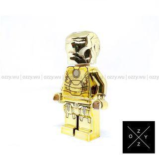 Lego Compatible Marvel Minifigures : Iron Man (MK 21) Chrome