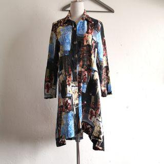 Black Long Sleeve Long Top