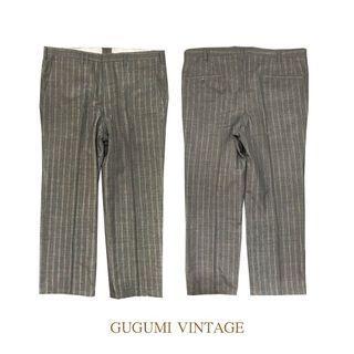 NO.88-灰直條紋西裝寬褲
