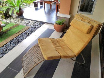 RATTAN Lazy Lounge chair or/with CUSHION SEAT