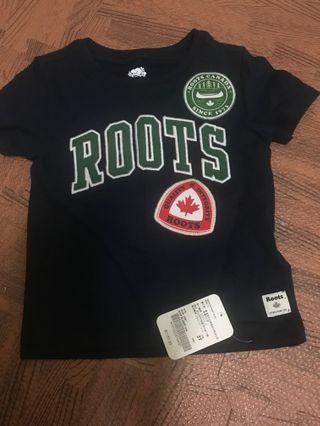 Roots 男童2T全新 專櫃品牌正貨