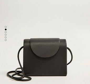 [NEW] Mango: Leather Box Bag
