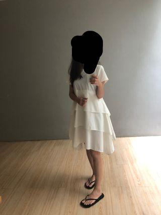 Dress white layer story of rhivone
