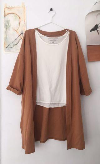 土色系棉質外套