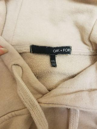 Oak and Fort nude hoodie OS