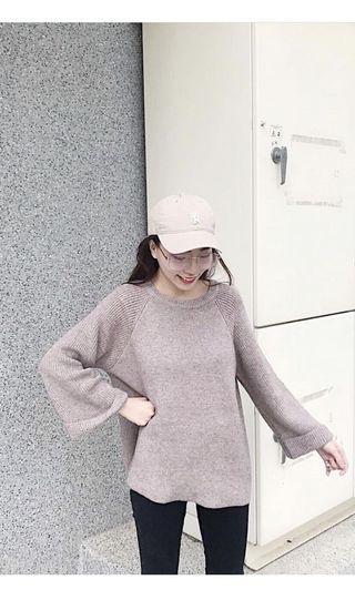 Oni反折袖針織毛衣#剁手時尚