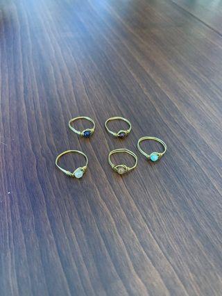 天然石戒指們
