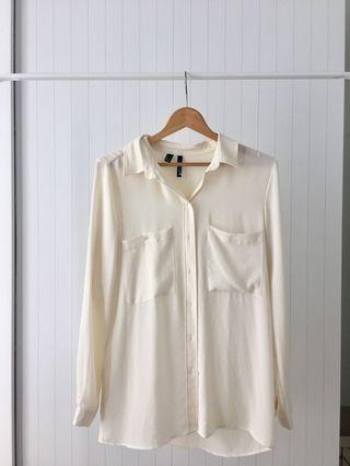 MNG Off White Shirt