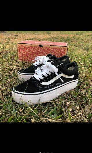Vans old skool厚底 22.5號