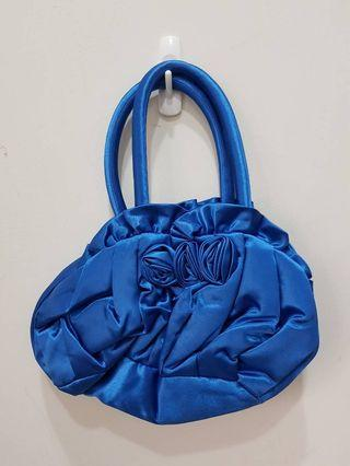 二手 100%泰國專櫃帶回NaRaYa拉鍊花包包-藍-用過一次保存良好