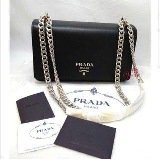💯Auth Brandnew Prada Chain Sling Bag