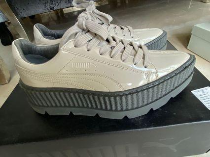 9.5成新 Puma x Fenty 聯名厚底休閒鞋