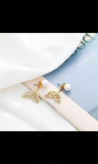 韓國🇰🇷熱銷款氣質系魚尾珍珠耳環