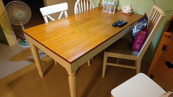 鄉村風 木頭 餐桌