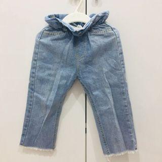二手女童女寶寶花苞牛仔褲