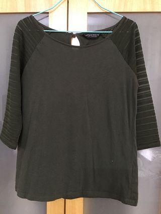 Dorothy Perkins Long Sleeve Top (dark green/ army green)