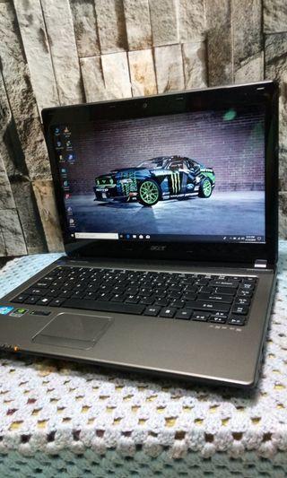 Acer i5 2gen Ram 4gb Hdd 500gb Hd 3000 Nvidia 1gb Battery Ok