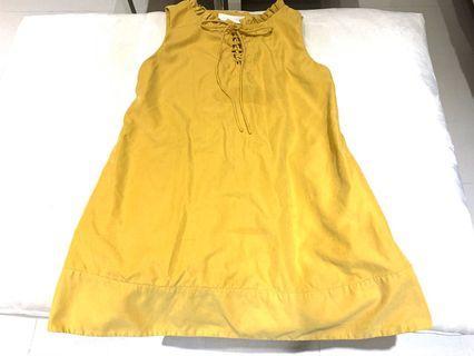 淺黃色 可愛 洋裝