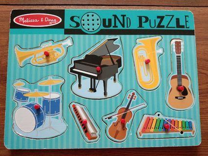 Puzzle Kayu Musik Melissa Dough