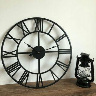 Pre-order 4 Weeks Clock Iron Wall 80CM