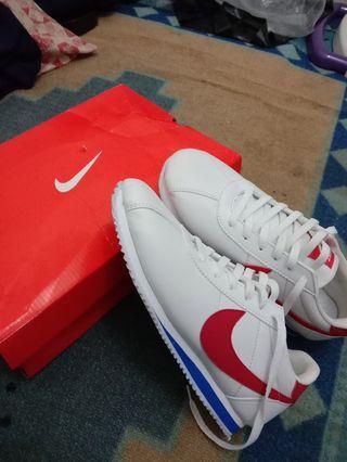 sepatu nike cortez white red unisex