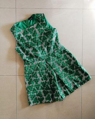 Summer Green Romper Dress #1111