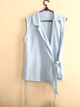 blue outerwear