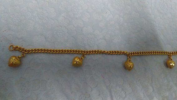Gelang love 916 gold