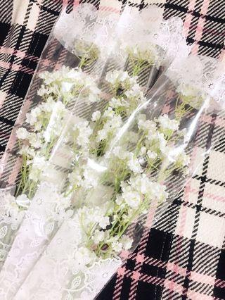 仿真絹布滿天星花束x3