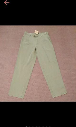 全新 國外帶回 Gardeur CHINOS 型男必備 水洗刷白 淺綠 打摺 寬鬆 卡其褲 休閒褲