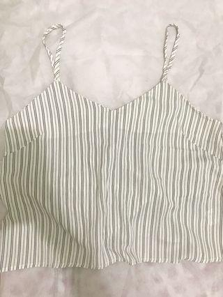 Womens Earth Striped Tank Top Size M / Tanktop Wanita