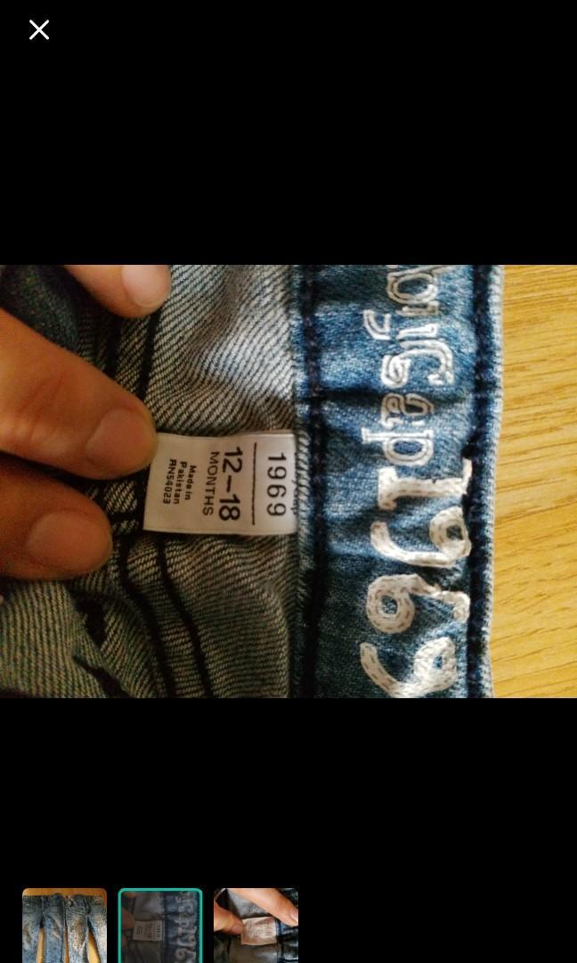 2條$30 H&M baby gap 女童牛仔褲 男童牛仔褲