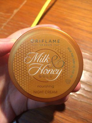 #1111special oriflame milk and honey gold night cream