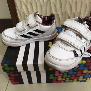 (二手出清)愛迪達 adidas白色米奇鞋-14cm