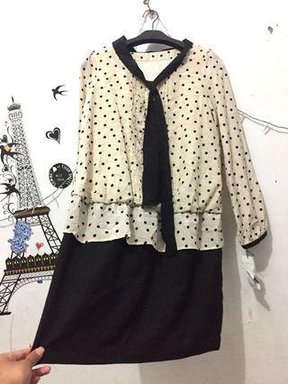 [BARU]tunik/dress polkadot import cantik