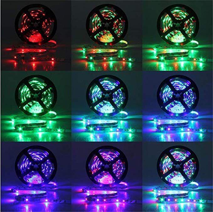 2 x 100cm Remote Control RGB LED Strip Light 44 Key IR