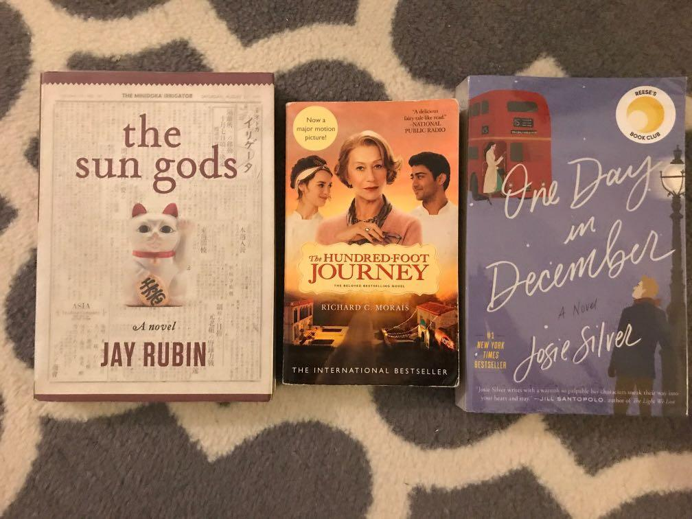 ‼️‼️3 for 600 including shipping: One Day In December, The Hundred Foot Journey and The Sun Gods