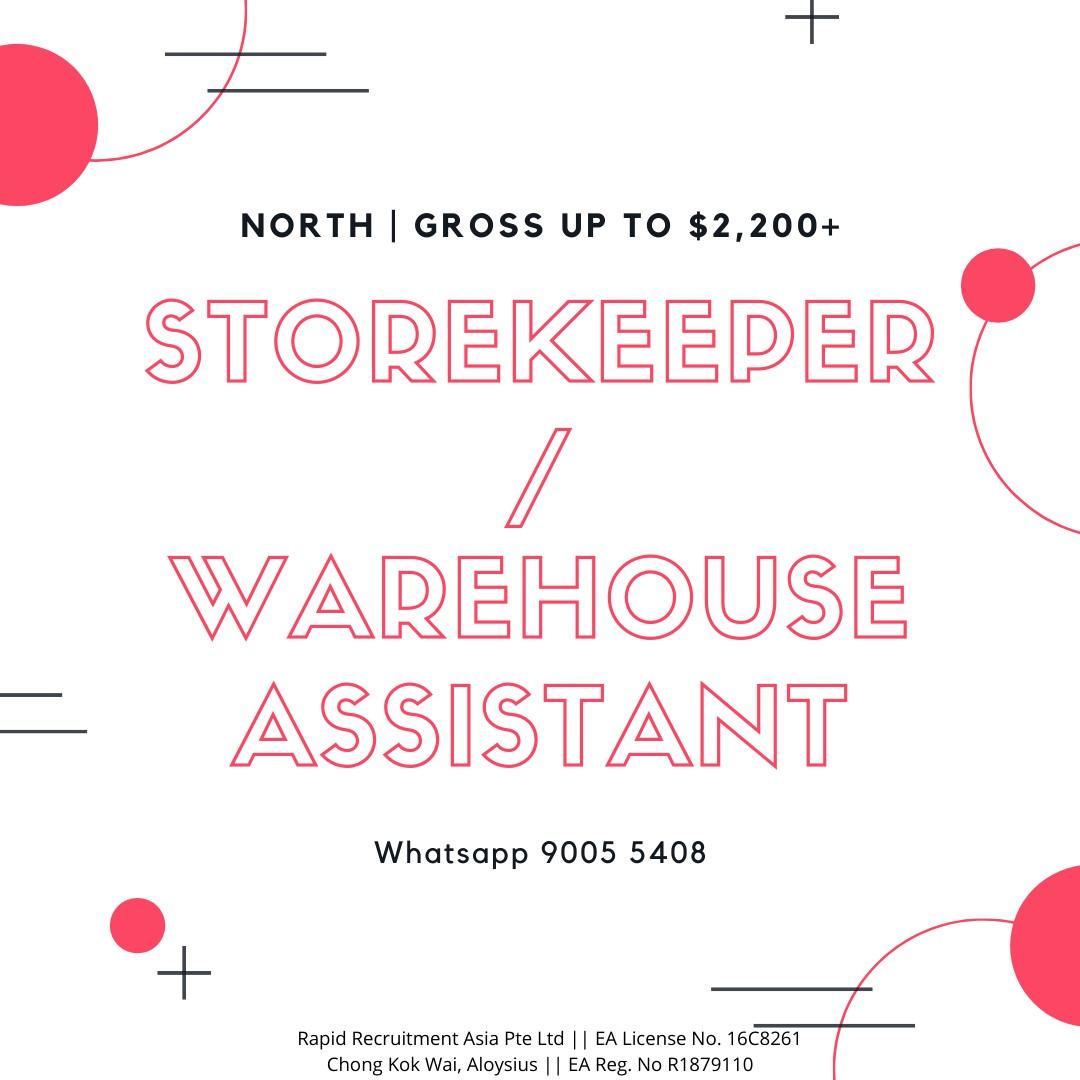 5 x Warehouse Assistant [ Tagore Area |  Fast Hiring ]