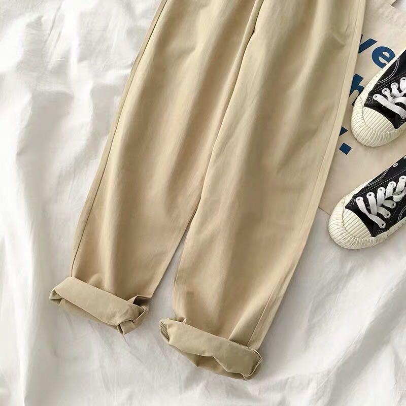 黑色九分闊腳褲