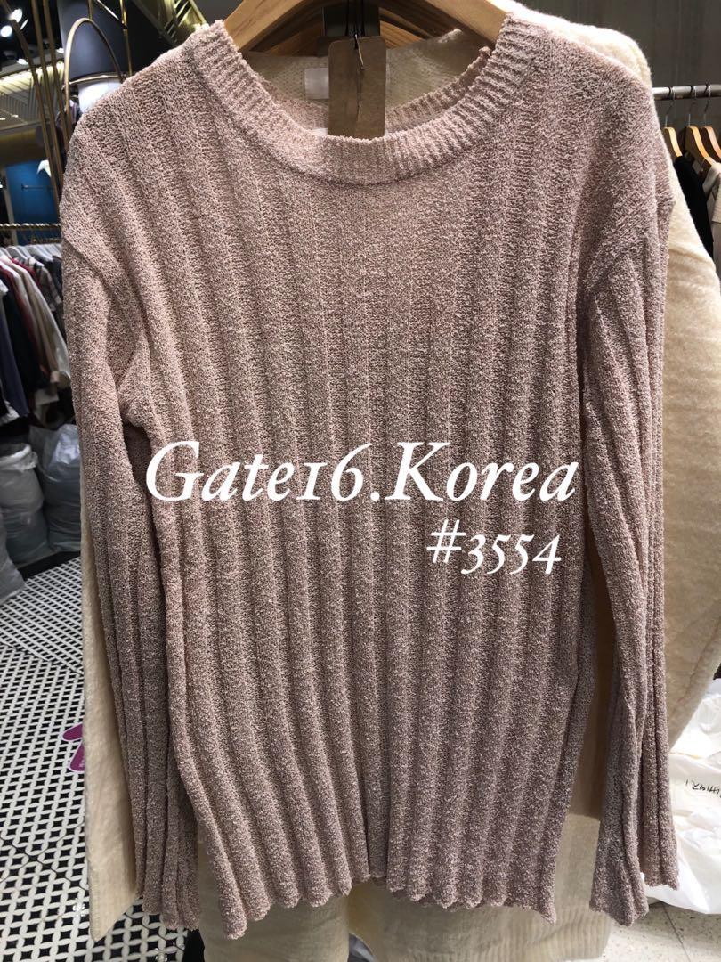 🇰🇷韓國直送連線🇰🇷 薄針織公主手袖修身top  ✨瘦人衫✨易襯✨超舒服✨顯身材 🌈 白色 / 粉紅色 / 灰色 💰促銷價💰:$98/件 $170/2件 $240/3件