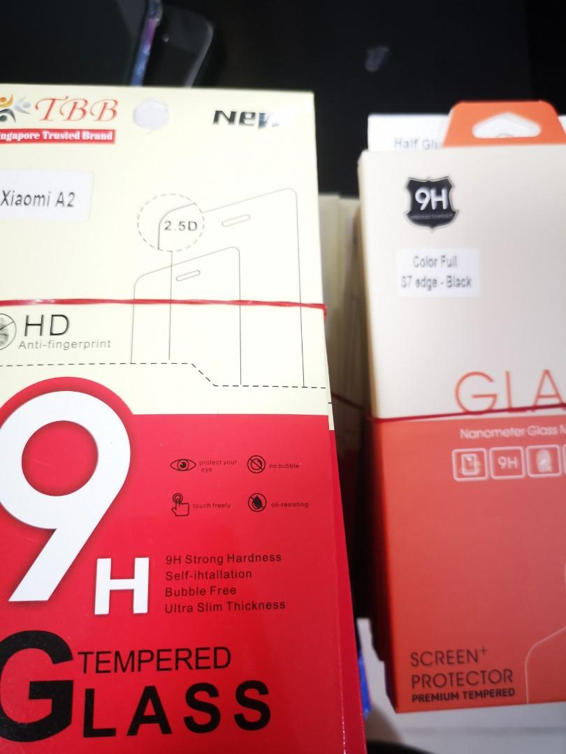 All types of tempered glass (0.33mm high quality)