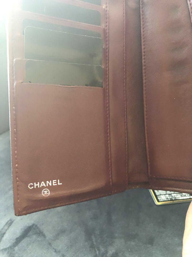 Authentic Chanel Black Quilted Lambskin Flap Wallet