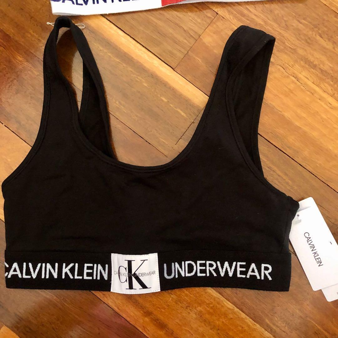 Black Calvin Klein bra