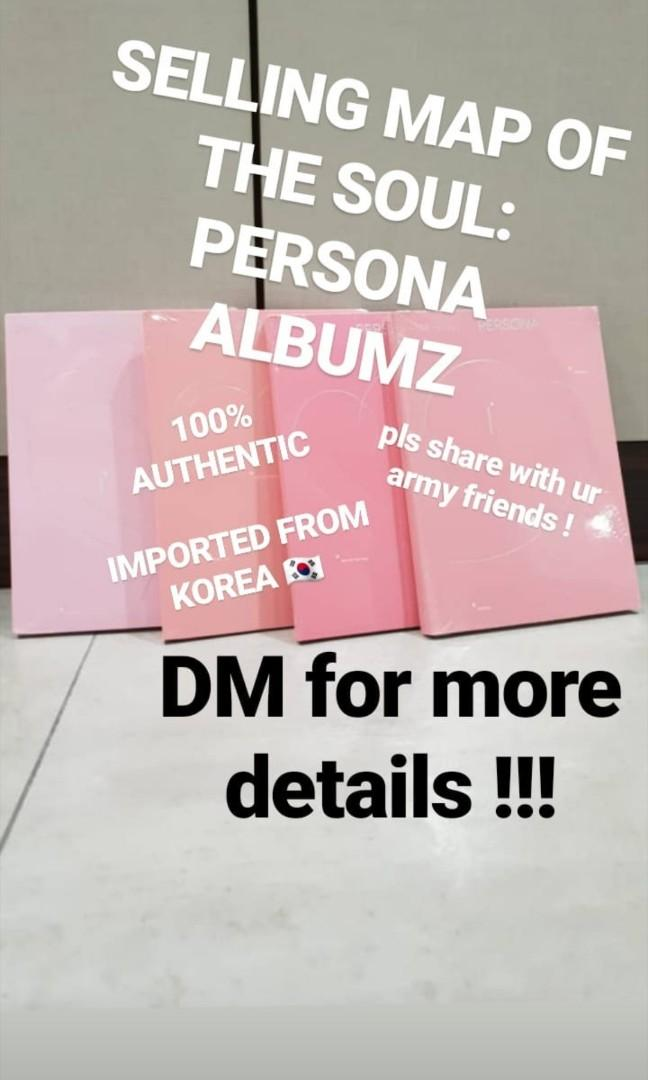 BTS Map Of Soul: PERSONA ALBUM + POSTER  防弾少年团 SEALED #CarousellBelanja