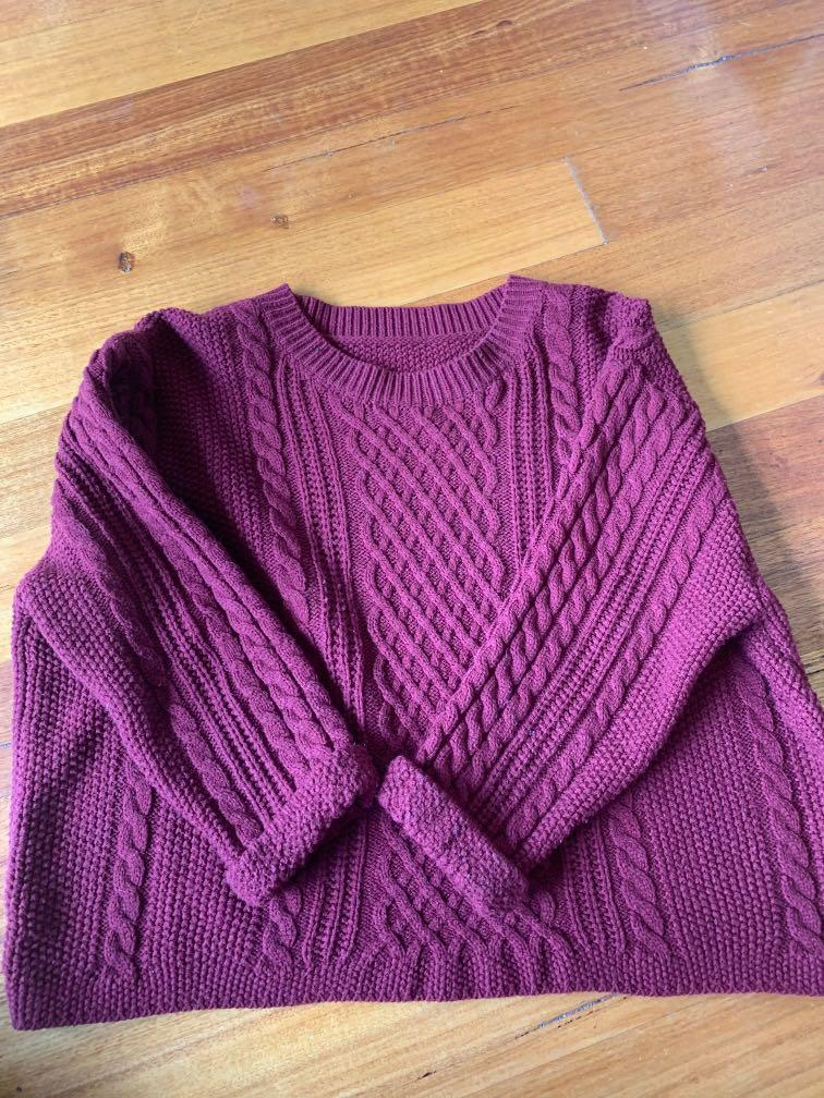 Cable knit crop jumper