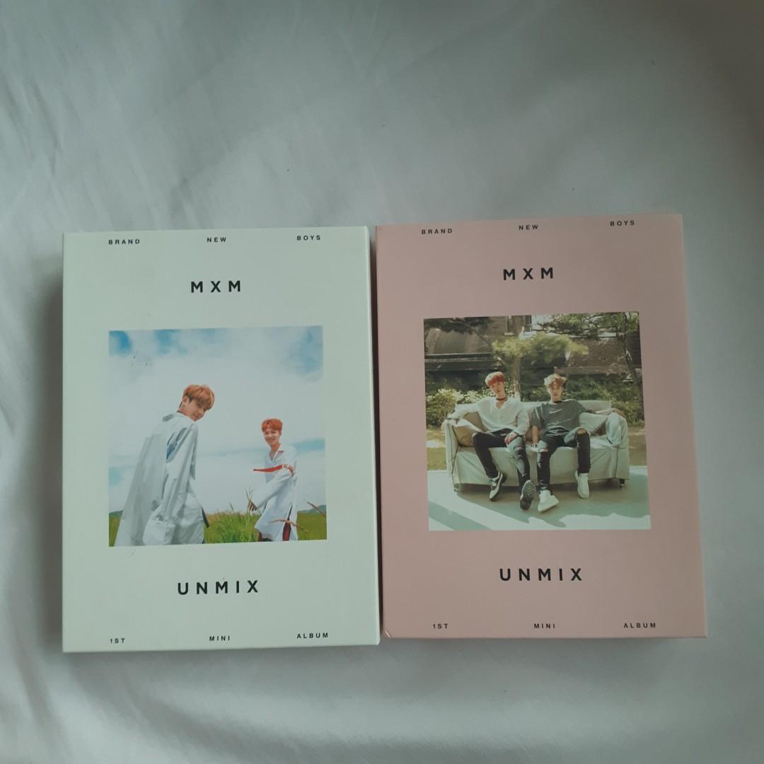 (CLEARANCE SALE)AB6IX /MXM UNMIX ALBUM  YOUNGMIN & DONGHYUN FULL SET