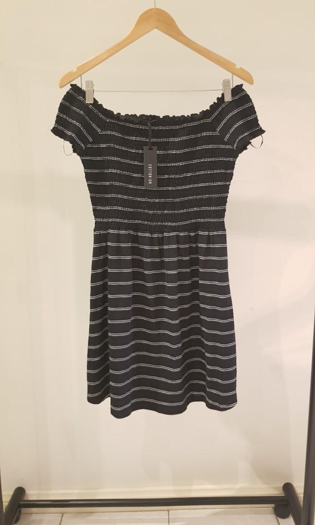 Cotton On Size Small Shirred Off the Shoulder Dress