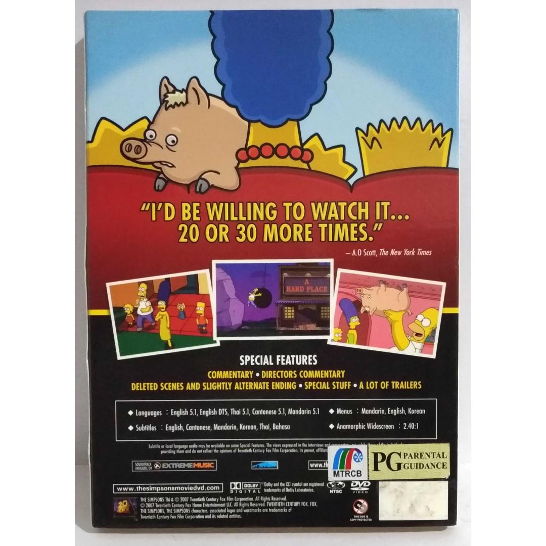 Dvd The Simpsons Movie British Comedy Awards 2007 Best Comedy Film Music Media Cd S Dvd S Other Media On Carousell